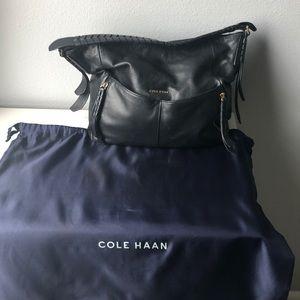Cole Haan genuine leather hobo bag
